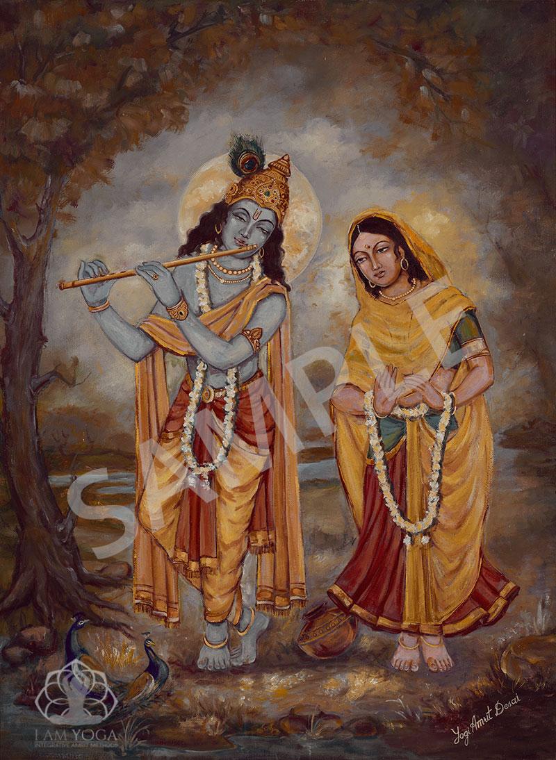 Radha Krishna painting by Yogi Amrit Desai