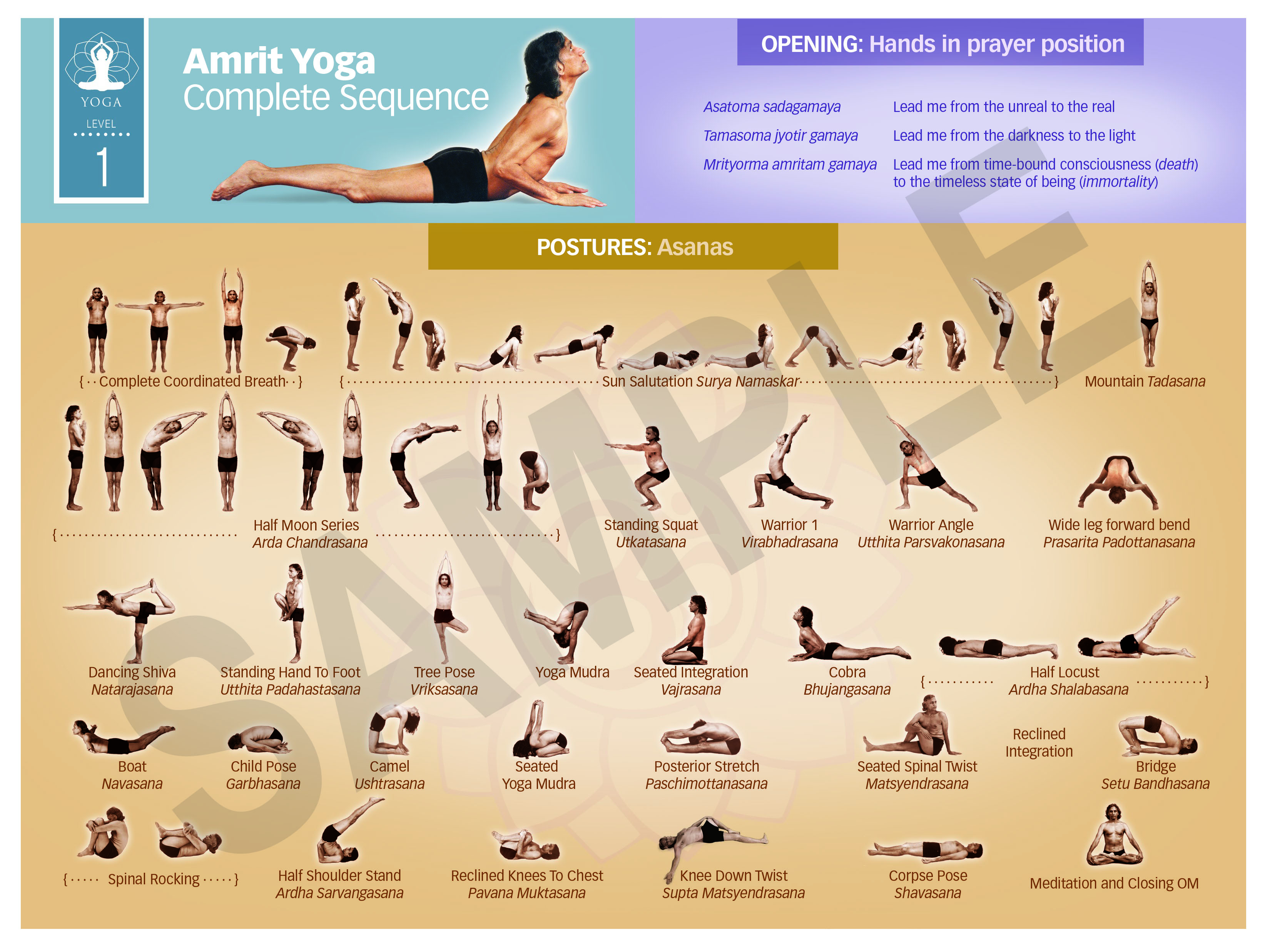 Yoga posture charts iam teacher training integrative amrit method of yoga level 1 sequence chart geenschuldenfo Choice Image