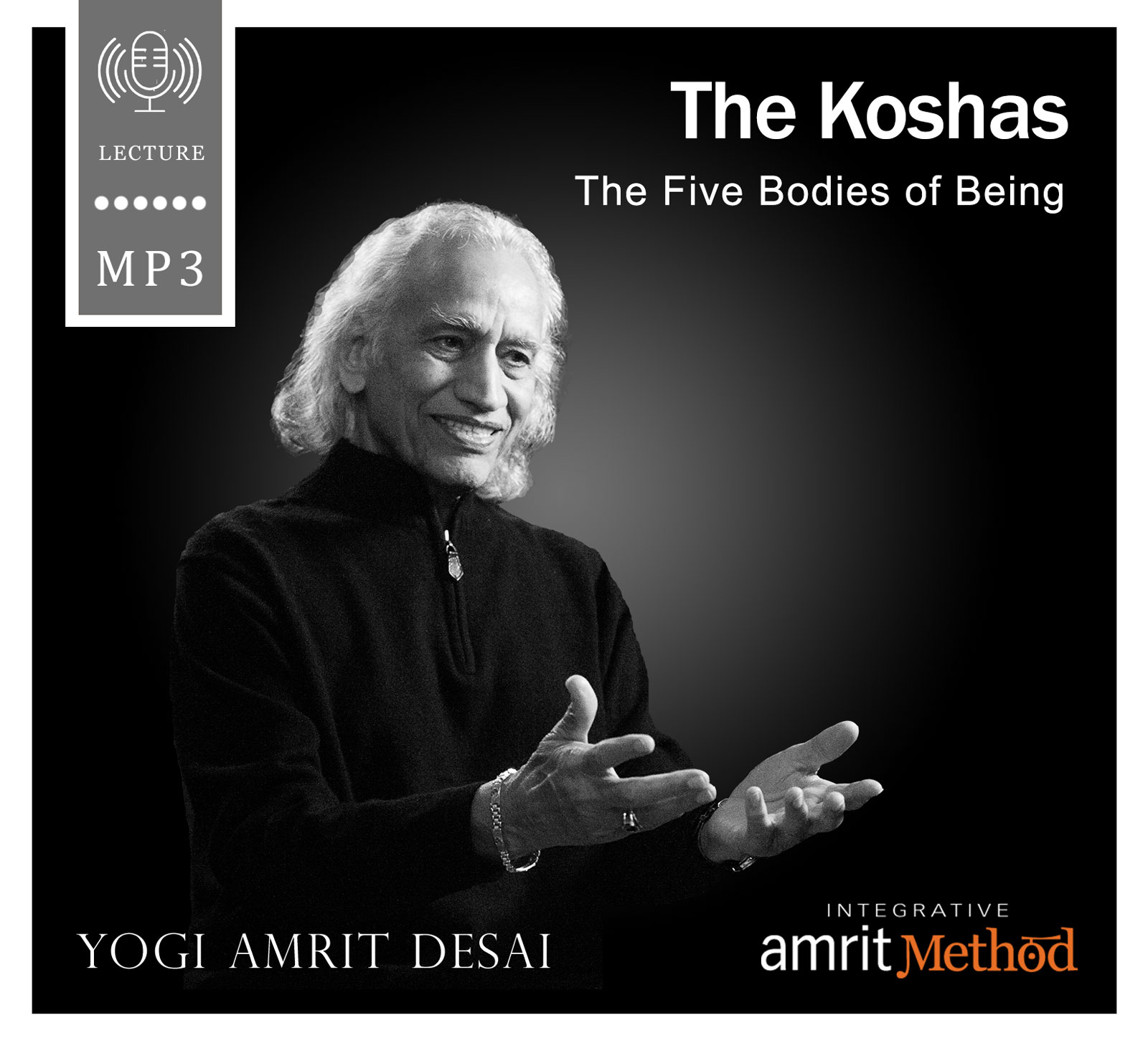 Step inside the koshas, the five bodies of being, with this revealing lecture. Yogi Amrit Desai provides deep insights into the relationships between the different koshas, prana, the heart, the mind and the soul, allowing us to see directly into the very core of our being. Each of the five bodies plays a critical part in our existence. Yogi Desai describes the intricacies of the annamayakosha (physical body), pranamayakosha (energy body), manomayakosha (mental body), vijnanamayakosha (intellect body), and the anandamayakosha (bliss body). Learn about the evolutionary impulse for Shiva to meet with Shakti so that the Shakti may flow freely through all the chakras and all of the bodies without inhibitions. This is the core of what we call joy and fulfillment. Originally recorded on May 20, 2003 in Cumberland, Rhode Island. Duration: 58 minutes.