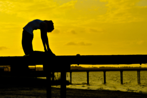 Yoga on the pier, Salt Springs, Florida